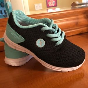e891e7b72ff5 Teal Color Girls Running Shoes
